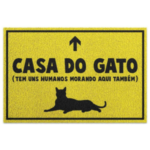 Capacho Criativo - Casa do Gato