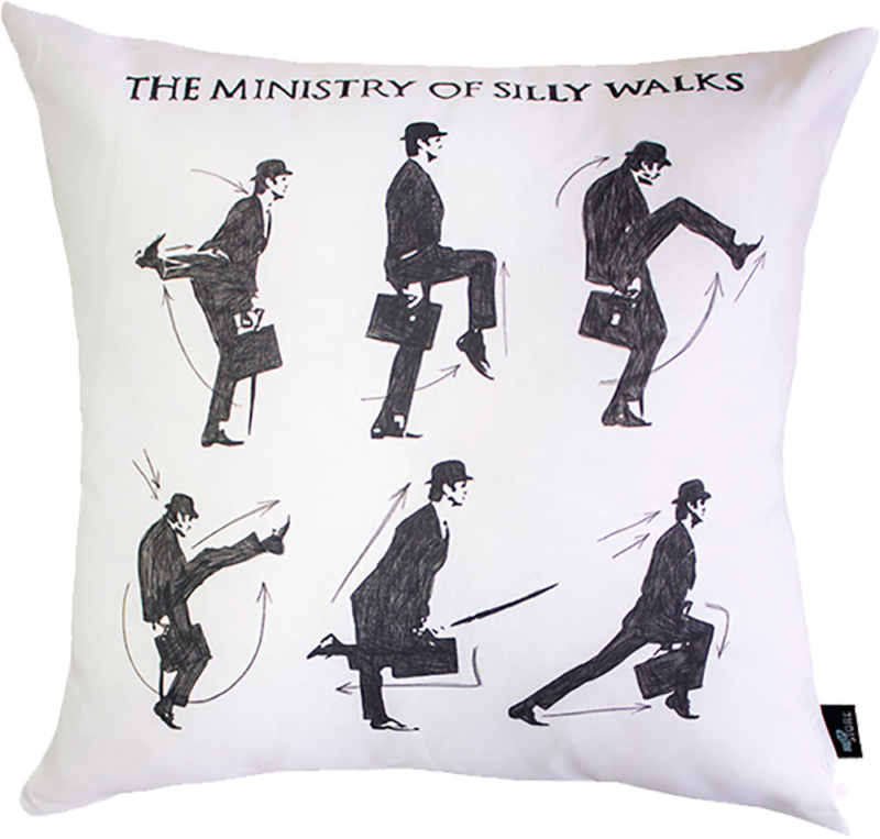 Almofada The Ministry of Silly Walks