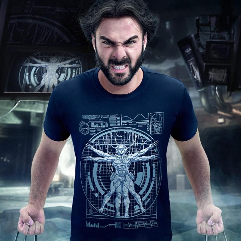 Homem Vitruviano versão Wolverine