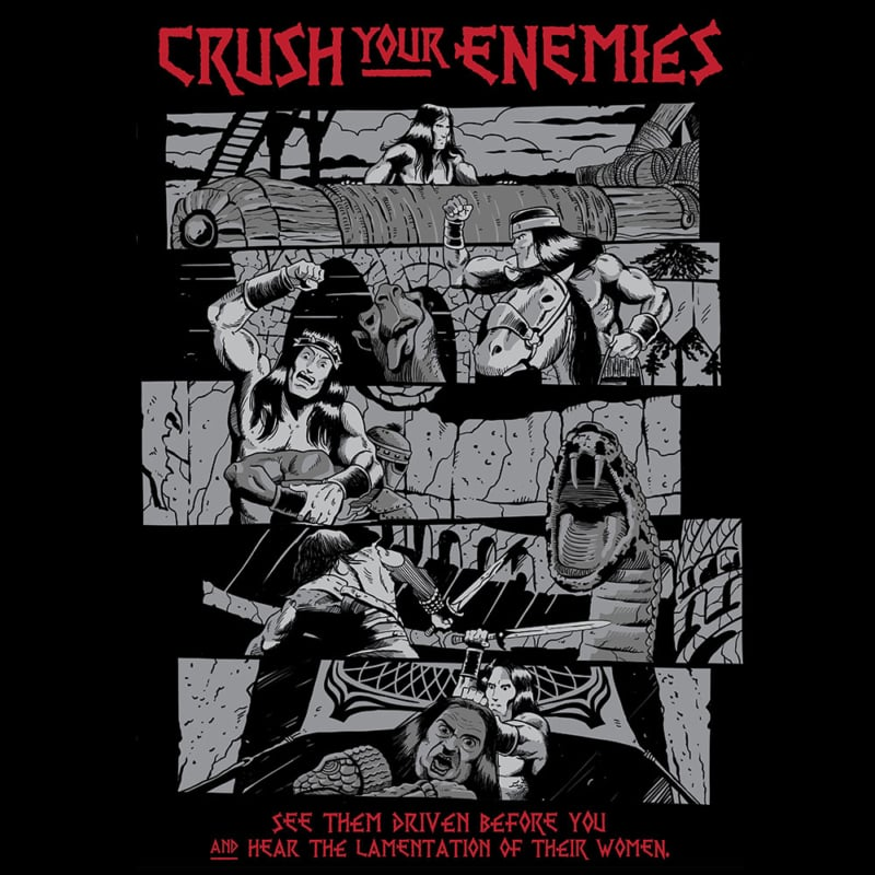 Camiseta Crush Your Enemies