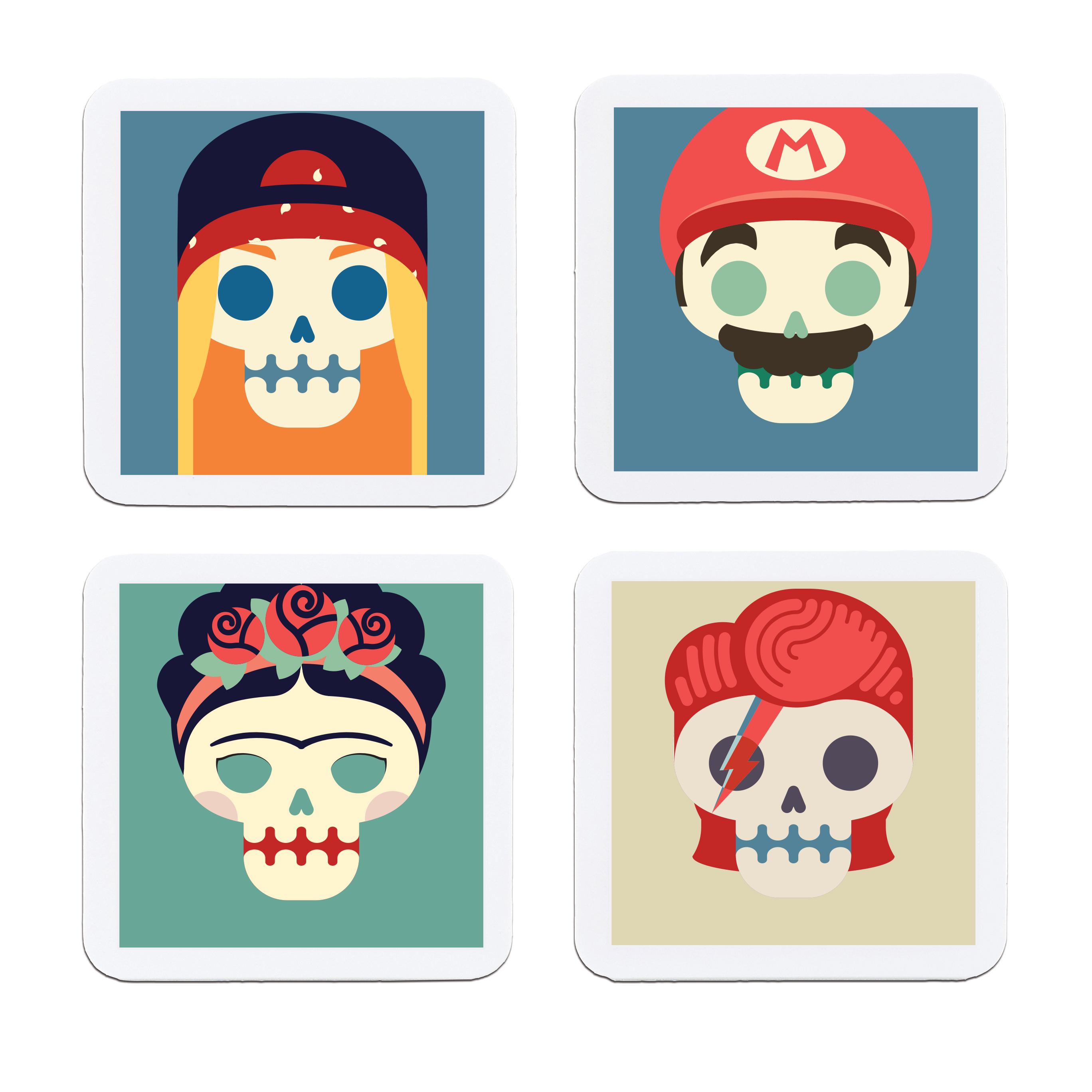 Porta Copos Pop Skull - Kit 2