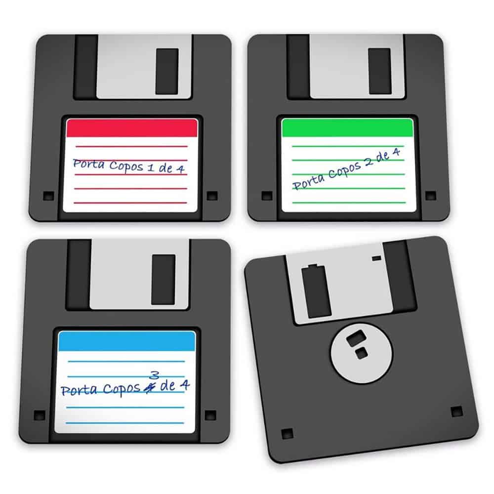 Porta Copos Disquete Floppy Disk