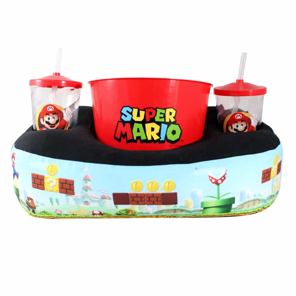 2c942d112c71c9 Kit Almofada Porta Pipoca Super Mario Cenário