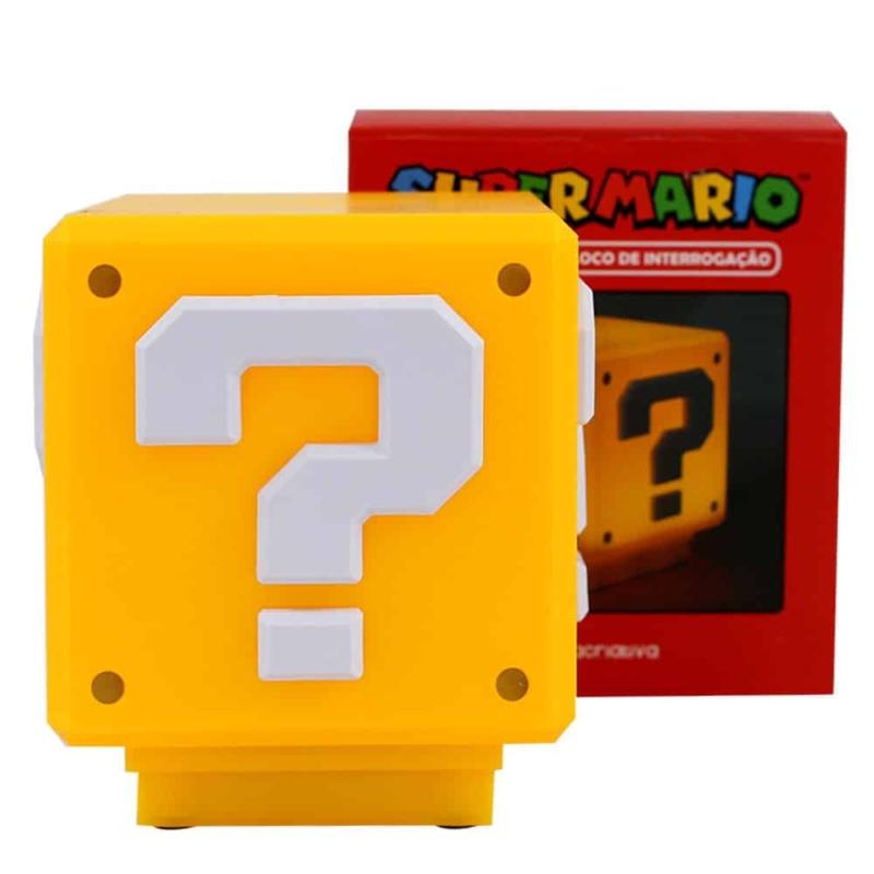 Luminária Mini Bloco Interrogação - Super Mario