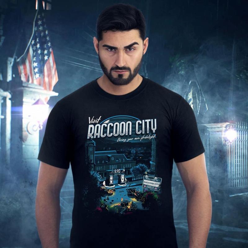 Estampa com base na cidade principal de Resident Evil