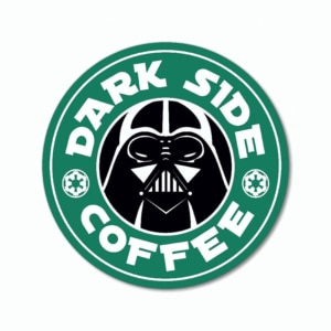 Placa Criativa Verde - Dark Side Coffee