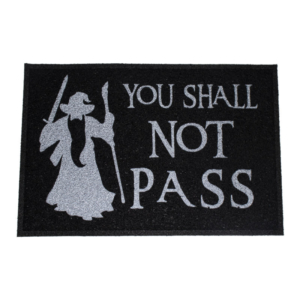 Capacho Criativo You Shall Not Pass - Preto