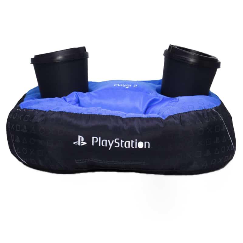 Almofada Criativa Porta Controle e Copos – PlayStation