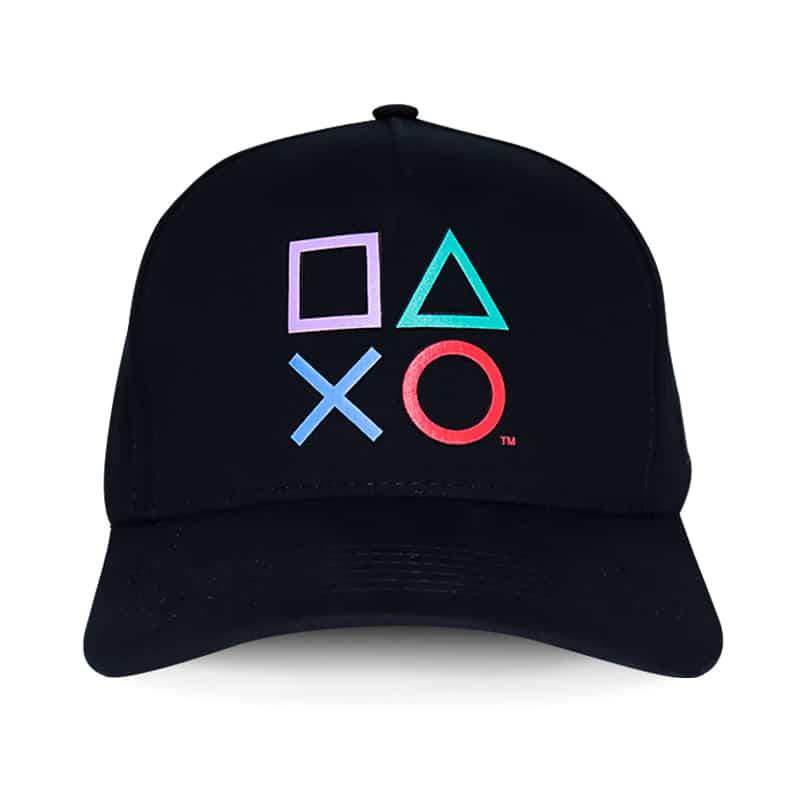 Boné Playstation Classic Símbolos - Preto