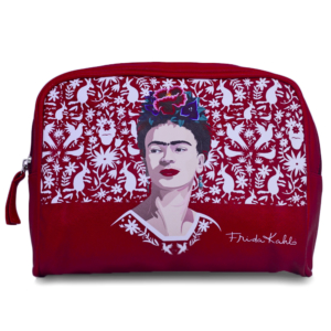 Necessaire Frida Kahlo Red Birds and Flowers