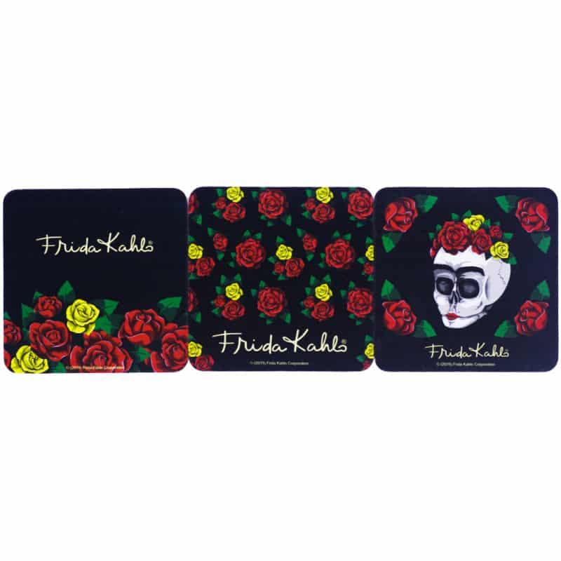 Porta Copos 6 Peças Frida Kahlo Skull