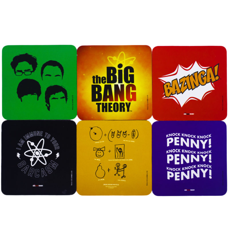 Porta Copos 6 Peças - The Big Bang Theory