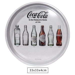 Bandeja de Metal Coca Cola Evolution of Bottles