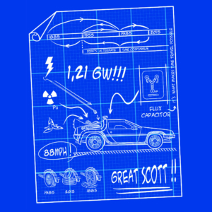 Camiseta BTTF Blueprint