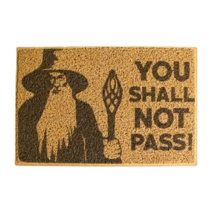 Capacho Criativo - You Shall Not Pass - Marrom