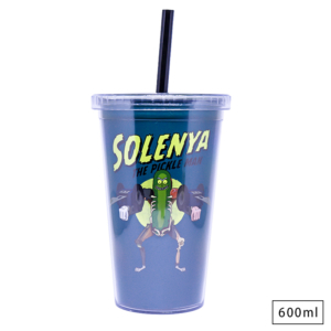 Copo com Canudo Rick and Morty - Solenya