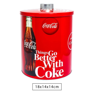 Lata Metal Classic Lid Coca Cola Better With Coke
