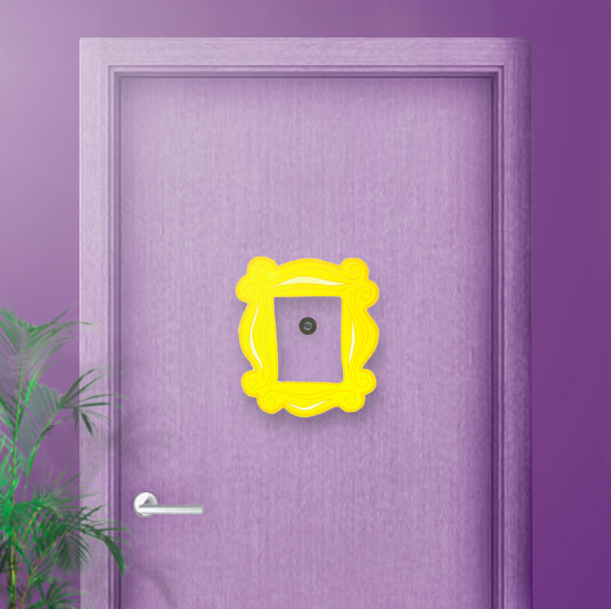 Placa WB Friends Peephole Door Frame