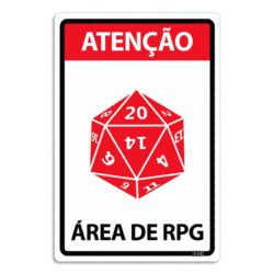 Placa Decorativa Área de RPG