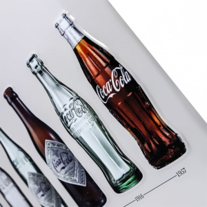 Placa Coca Cola Bottles