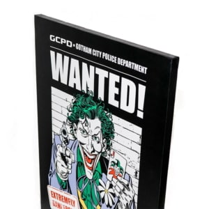 Quadro Joker Wanted - Dc Comics