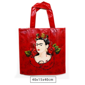 Sacola Frida Kahlo Red Roses Face