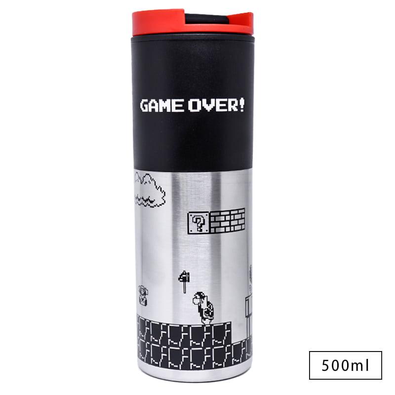 Copo Viagem de Alumínio Mario Game Over Retro
