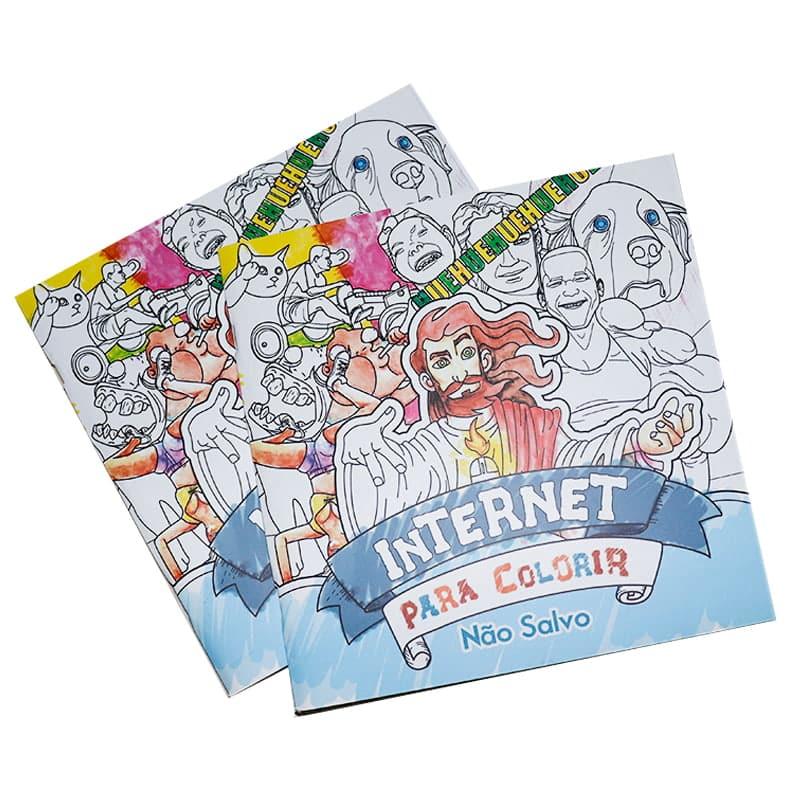 Livro Internet Para Colorir - Não Salvo