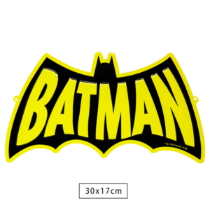 Placa Decorativa de Metal Batman Word - Dc Comics
