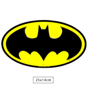 Placa Decorativa de Metal Batman Logo - Dc Comics