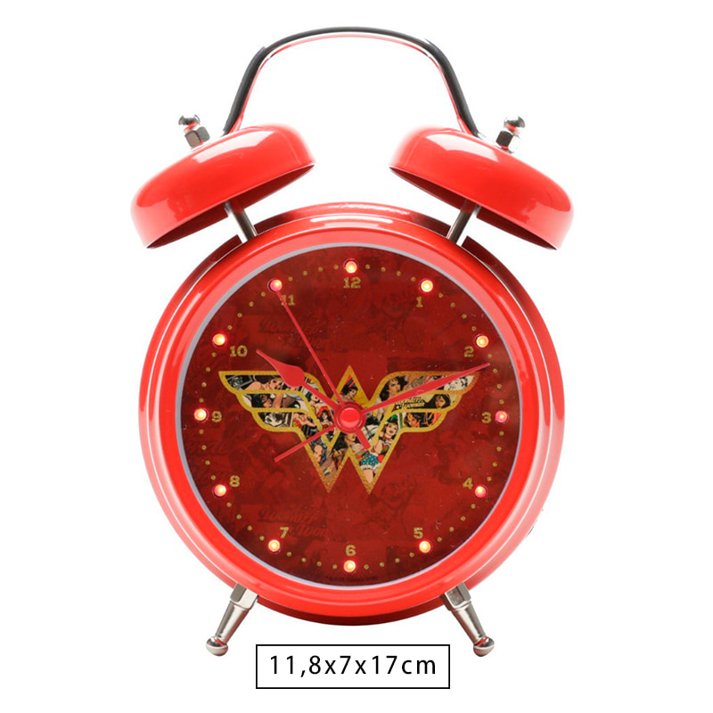 Relógio Despertador com Led Wonder Woman Movie