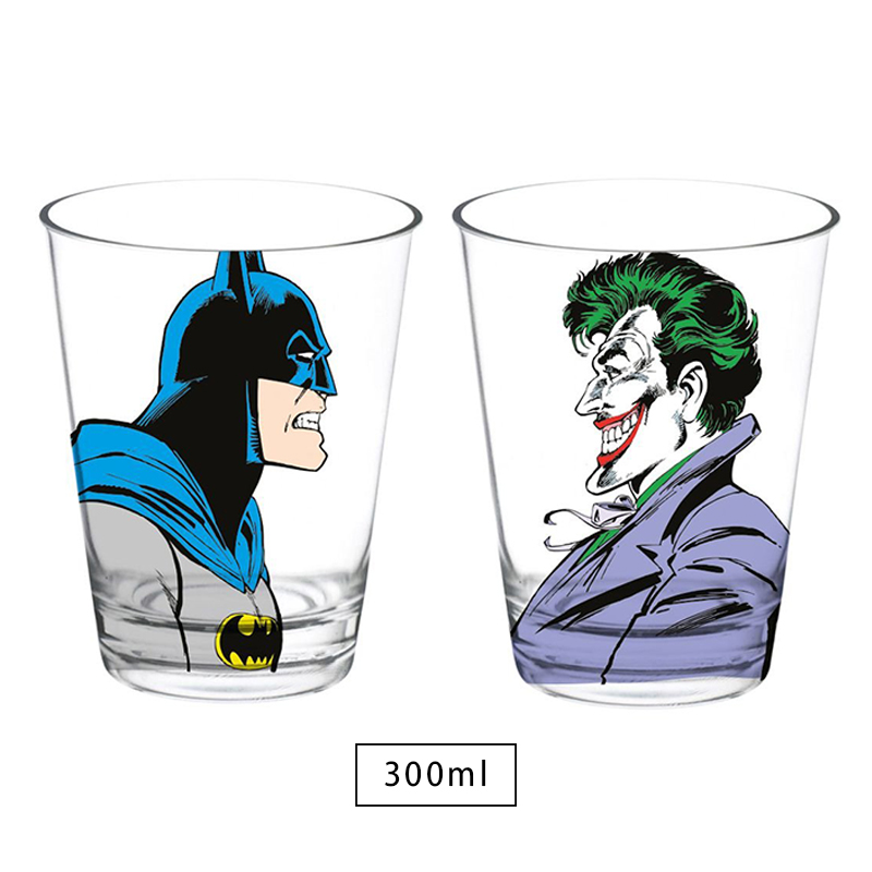 Kit 2 Copos DC Batman or Joker