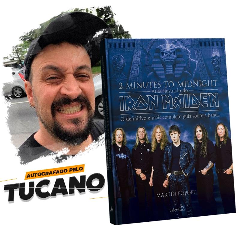 Atlas Ilustrado do Iron Maiden: 2 Minutes To Midnight – Versão Autografada pelo Tucano