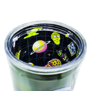 Copo com Canudo Rick and Morty - Pickle Rosto