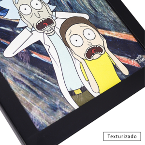 Quadro Criativo O Grito - Rick and Morty
