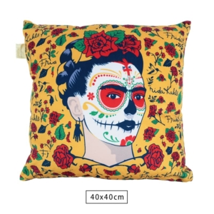 Almofada Frida Kahlo Face And Flowers