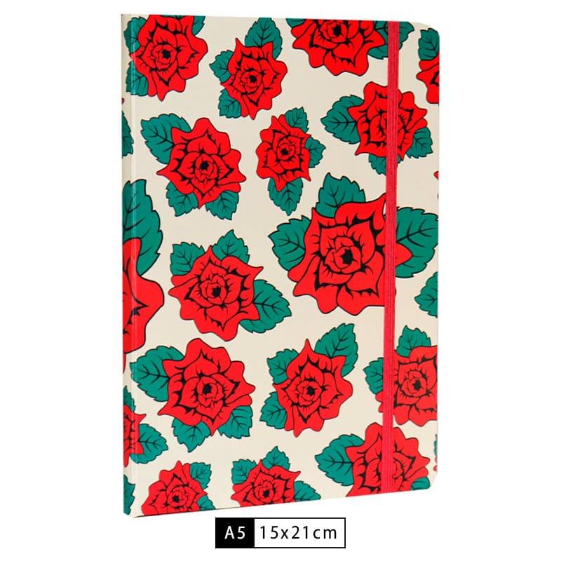 Caderneta Branca Flowers - Frida Kahlo