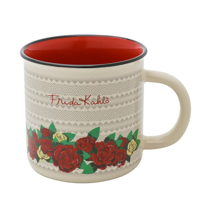 Mini Caneca Frida Kahlo Geometric Flowers