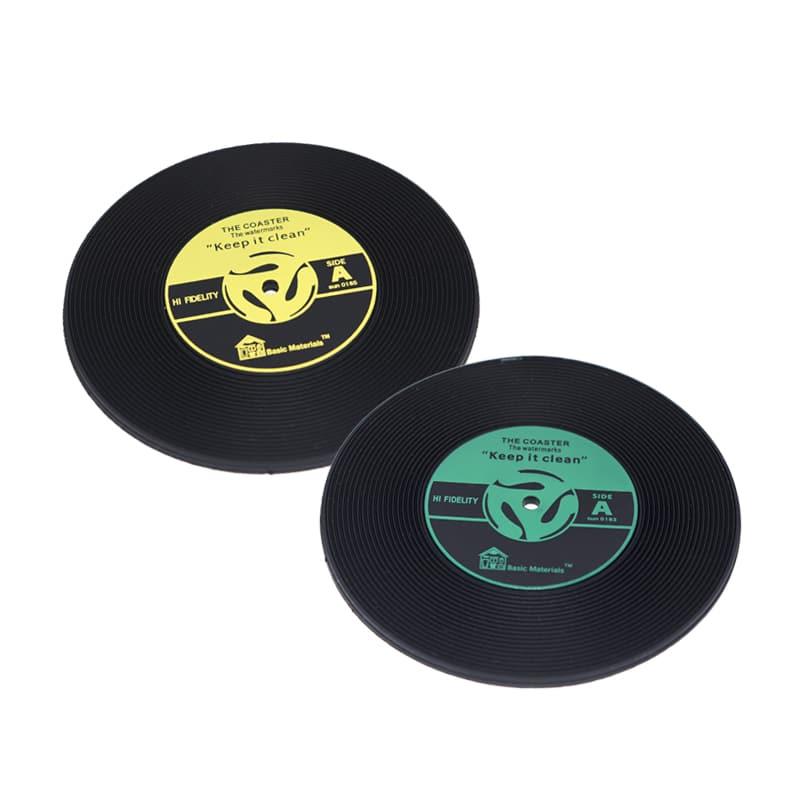 Porta Copos Disco de Vinil Record - 2 Peças