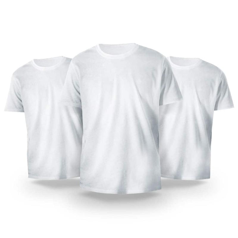 Kit Básico 3 Camisetas Brancas