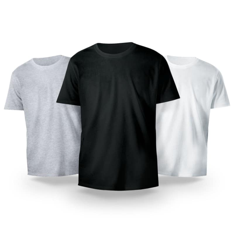 Kit Básico 3 Camisetas Sortidas