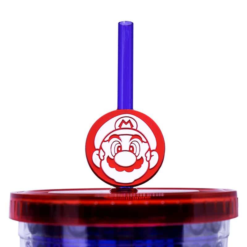 Copo com Canudo Super Mario