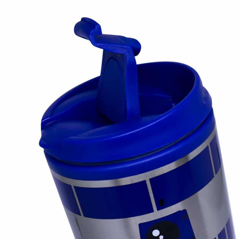 Copo Viagem com Tampa R2D2 - Star Wars