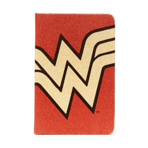 Caderneta Wonder Woman Core Gold Logo - Dc Comics
