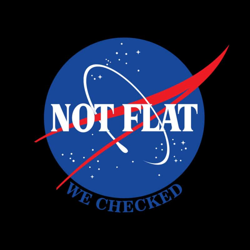 Camiseta Not Flat We Checked Black Edition