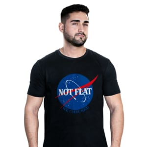 Camiseta Not Flat We Checked Black Edition