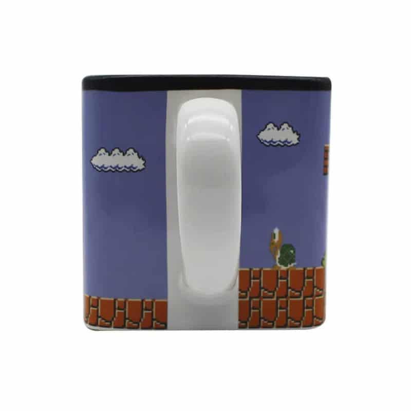 Caneca Cubo Super Mario Fases Pixels
