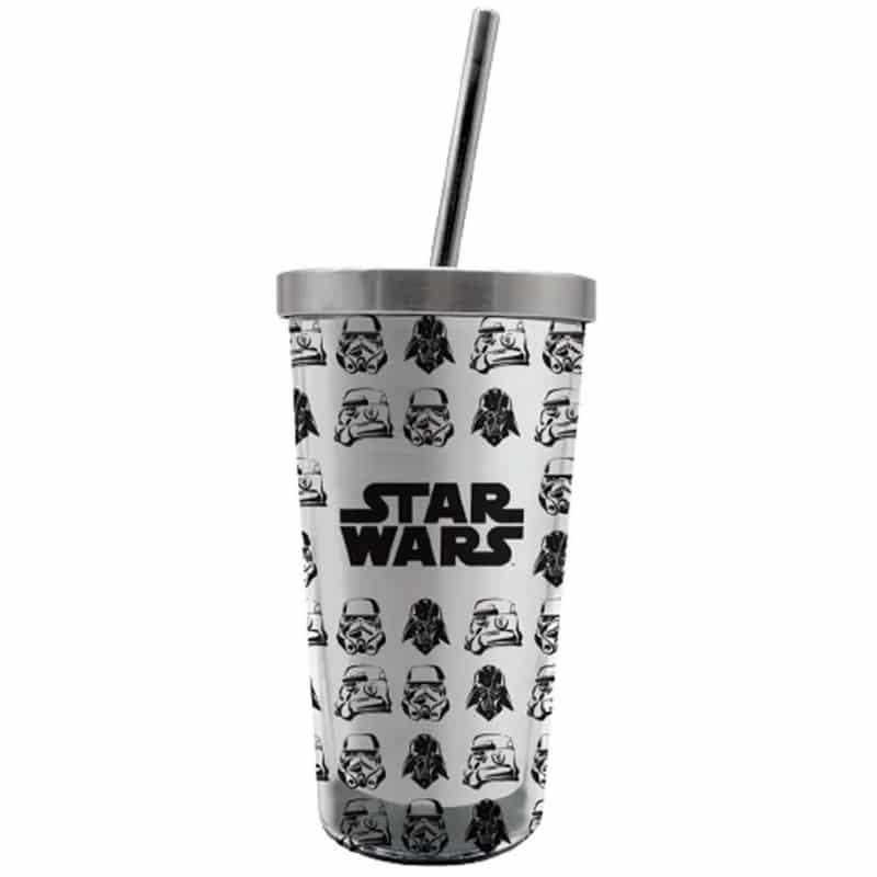 Copo Canudo Eco Stormtroopers e Vader