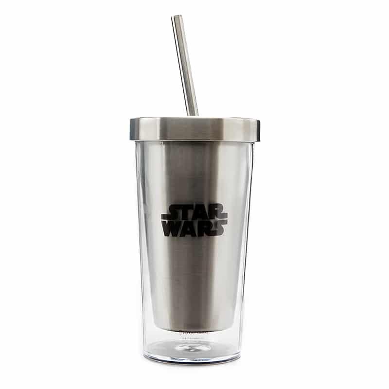 Copo Canudo Ecológico Darth Vader Fire - Star Wars