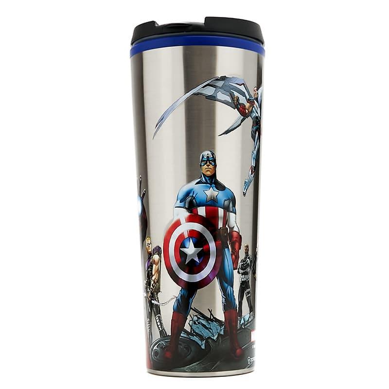 Copo Viagem Metal Avengers City - Marvel